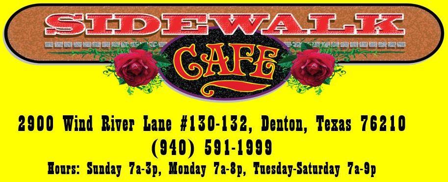 Sidewalk Cafe Denton Tx Menu